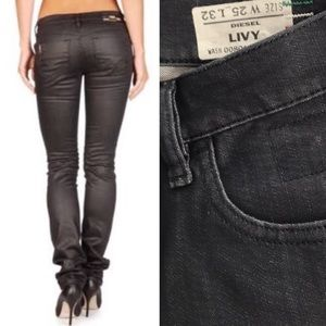 42233b24 Diesel · DIESEL LIVY Stretch Jeans Black Coated ...